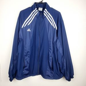 ADIDAS ClimaLite Blue Windbreaker Zip Up Jacket